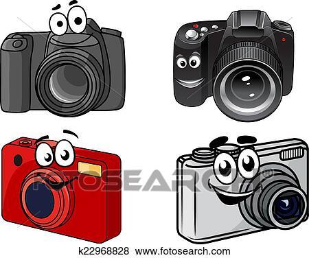 剪贴画 - 卡通漫画, 数字照相机