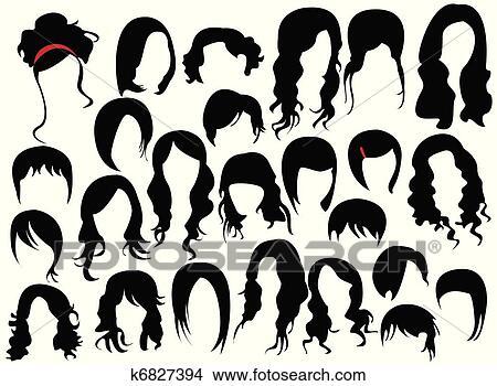 手绘图 - 头发