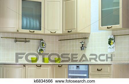 Arkivbilder   klassisk, kjøkken, indre k6834566   søk ...