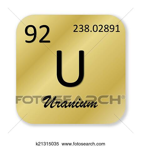 Stock Illustration Of Uranium Element K21315035 Search Clipart