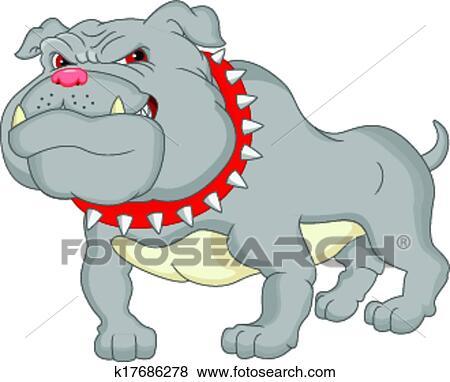 Clipart bouledogue anglais dessin anim k17686278 - Bulldog dessin anime ...