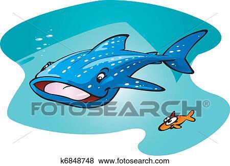 Clipart requin baleine k6848748 recherchez des - Requin baleine dessin ...