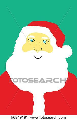剪贴画 - 圣诞老人, 矢量