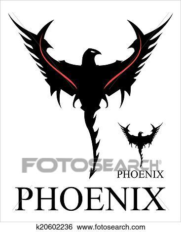 Clip Art of Phoenix. Black Phoenix k20602236 - Search Clipart ...