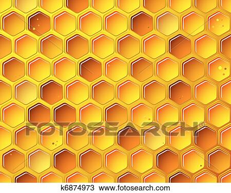Clipart of honeycomb background concept k6874973 search clip art clipart honeycomb background concept fotosearch search clip art illustration murals drawings voltagebd Image collections