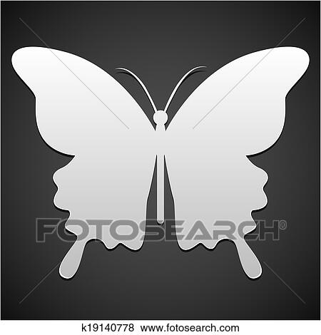 clip art vektor schmetterling symbol oder hintergrund k19140778 suche clipart poster. Black Bedroom Furniture Sets. Home Design Ideas