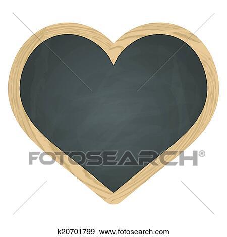 clipart c ur ardoise tableau noir gris armature bois k20701799 recherchez des. Black Bedroom Furniture Sets. Home Design Ideas