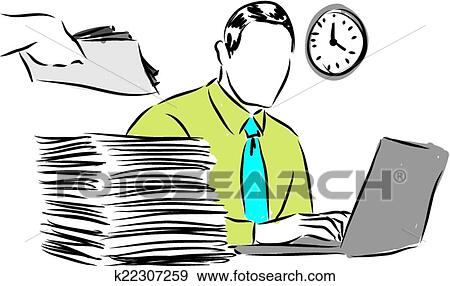 clip art of business paperwork illustration k22307259 search rh fotosearch com business card clipart images business meeting clipart images