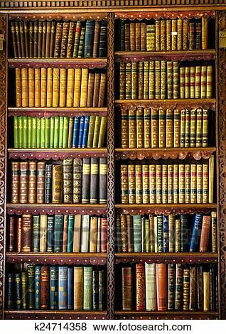 Bücherregal clipart  Bilder - altmodisch, bücherregal k24714358 - Suche Stockfotos ...