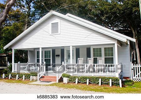 archivio fotografico vecchio bianco legno cottage