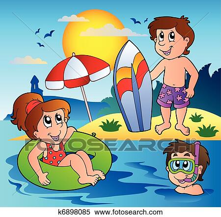 Clipart of Summer theme image 1 k6898085 - Search Clip Art ...
