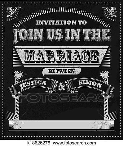 剪贴画 - 婚礼, 黑板,