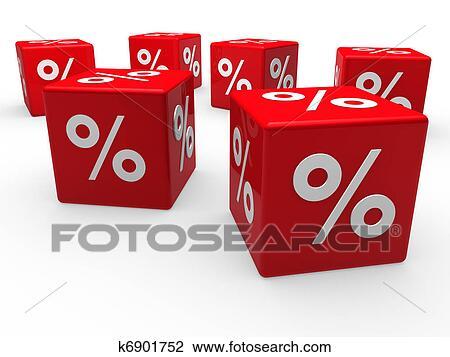 banque de photo 3d rouges vente cube pourcentage k6901752 recherchez des images des. Black Bedroom Furniture Sets. Home Design Ideas