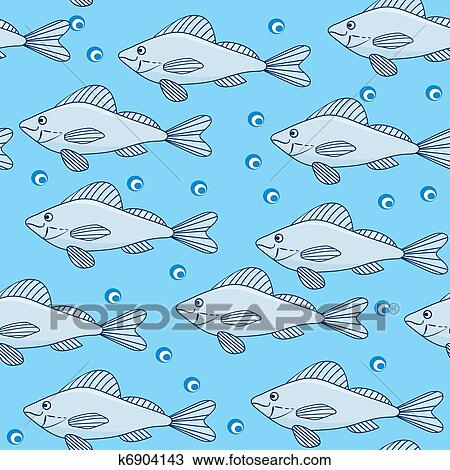 clipart of school of fish in the water k6904143 search