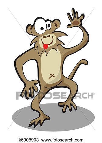 Tegning karikatur morsom apekatt fotosearch søk utklipp