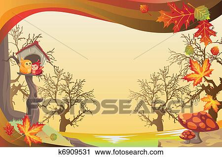 clipart herbstliche oder herbstbilder hintergrund. Black Bedroom Furniture Sets. Home Design Ideas
