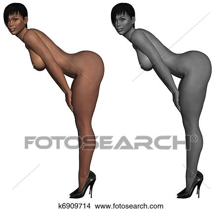 Cuerpo femenino desnudo perfecto