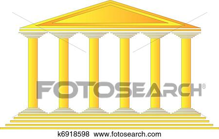 clip art of greek temple k6918598 search clipart illustration rh fotosearch com temple clipart png temple clipart lds
