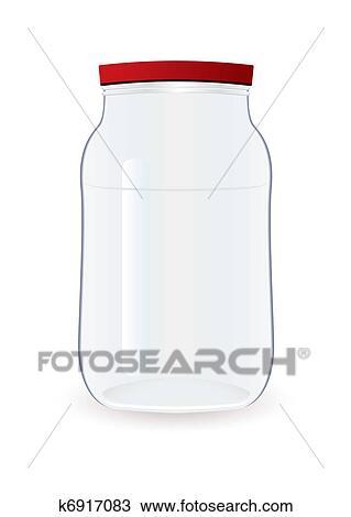 Clipart of Jam jar empty k6917083 - Search Clip Art, Illustration ...