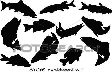 剪贴画 - 鱼, 收集