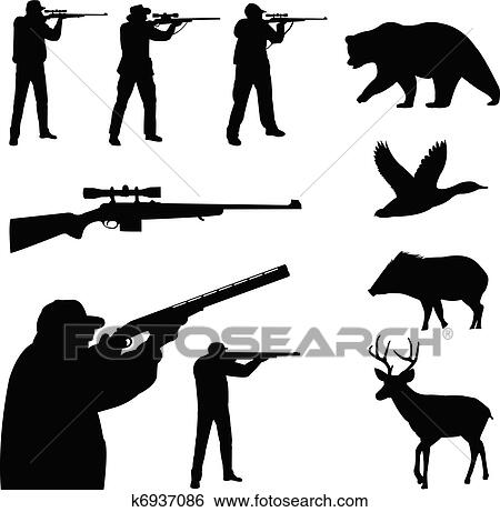 Hunter With Rifle Clip Art