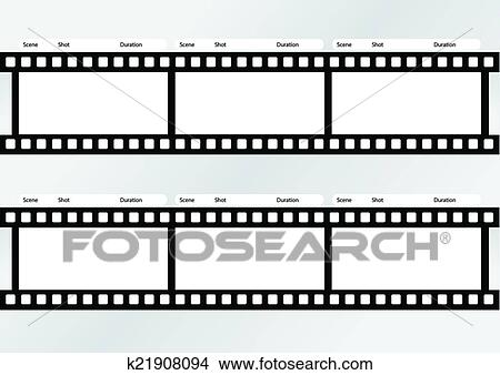 Clipart Of Professional Of Storyboard Film Strip Template K21908094