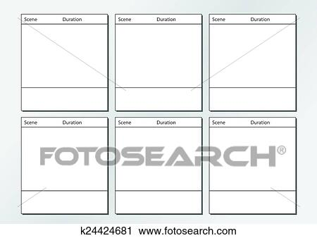 Clipart Of Tv Commercial Storyboard Template X K  Search