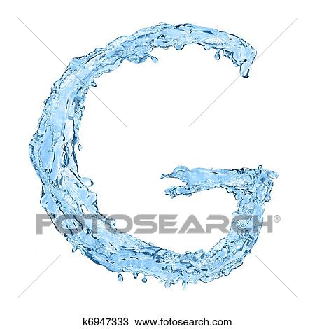Drawing of alphabet made of frozen water the letter g k6947333 alphabet made of frozen water the letter g altavistaventures Gallery