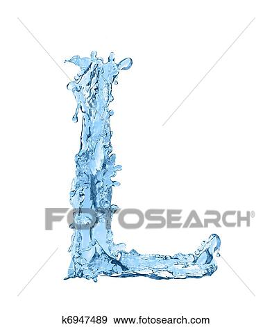 Alphabet Made Of Frozen Water