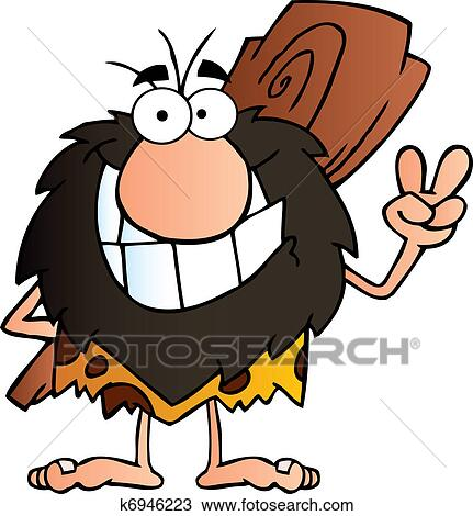 clipart of happy caveman k6946223 search clip art illustration rh fotosearch com captain caveman clipart caveman clipart pictures