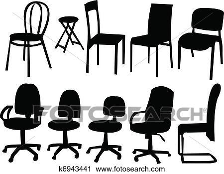 Stühle clipart  Clipart - stühle, sammlung, -, vektor k6943441 - Suche Clip Art ...