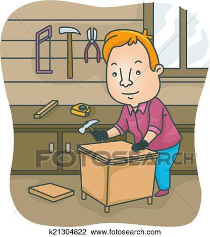 Clipart bricolage meubles k21304822 recherchez des - Clipart bricolage ...