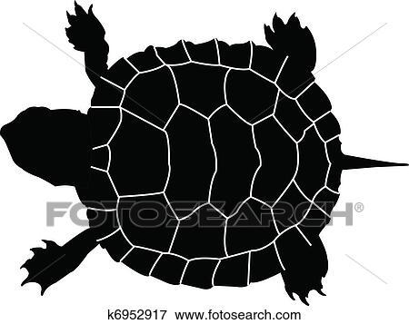 Clipart tortue vecteur k6952917 recherchez des cliparts des illustrations des dessins - Clipart tortue ...