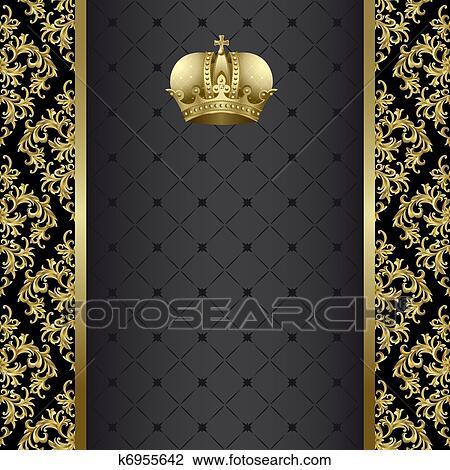 clip art schwarz gold hintergrund k6955642 suche clipart poster illustrationen. Black Bedroom Furniture Sets. Home Design Ideas