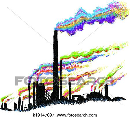 clip art of industrial pollution k19147097 search clipart rh fotosearch com pollution clipart pollution clipart free