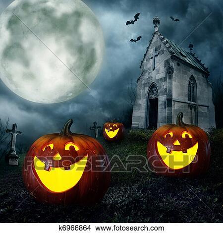 Archivio fotografico halloween zucche k6966864 cerca for Foto zucche halloween