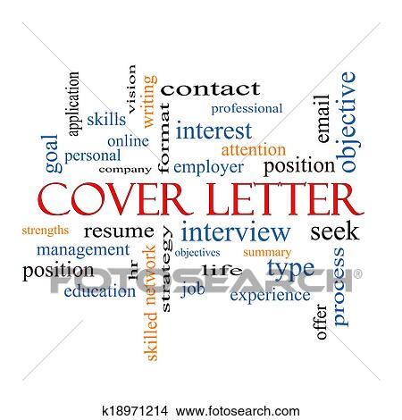 Drawings of Cover Letter Word Cloud Concept k18971214 Search Clip