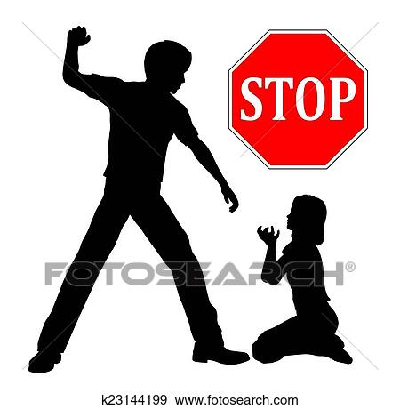 Stock Illustration Of Stop Child Abuse K23144199 Search