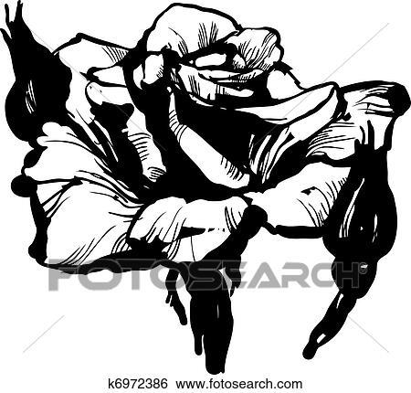 Clipart magnifique bourgeon rose k6972386 recherchez - Dessin bourgeon ...