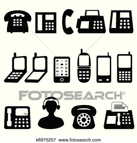 Simbolos de Telefone Celular Clipart Telefone Símbolos