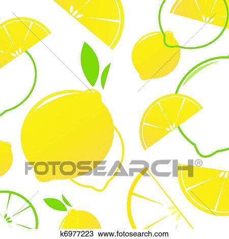 Clipart fresco stilizzato frutta fette limone for Clipart frutta
