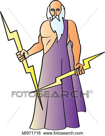 clip art of zeus k6971716 search clipart illustration posters rh fotosearch com zeus clipart images zeus clipart images