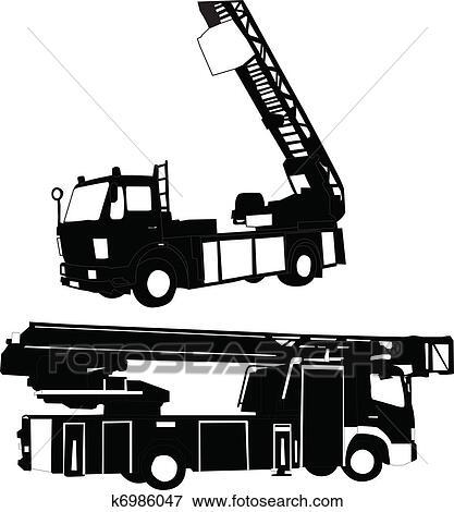clip art of firetruck vector k6986047 search clipart rh fotosearch com vintage fire truck vector fire truck vector clipart