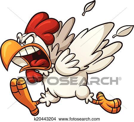 剪贴画 - 愤怒, 小鸡
