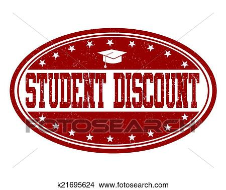 Clipart of Student discount stamp k21695624 - Search Clip Art ...