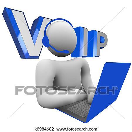 Voice Over Internet Protocol Clip Art