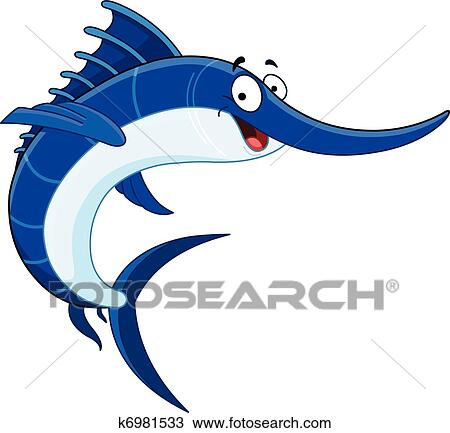 clipart of swordfish k6981533 search clip art illustration murals rh fotosearch com Marlin Clip Art swordfish clipart black and white