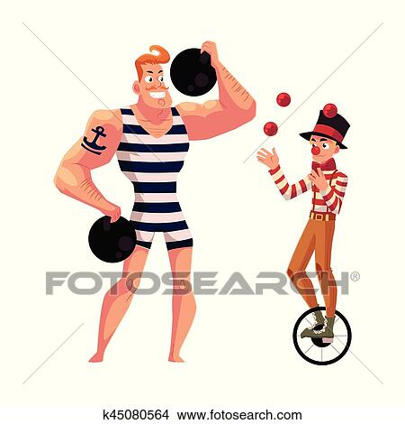 clipart of circus performers strong man and clown juggling balls rh fotosearch com juggler clipart juggler clipart