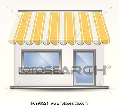Clipart of Storefront Awning in Yellow k6996321 - Search Clip Art ...