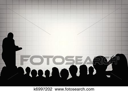 Clipart of a person doing a presentation at a business conference ...